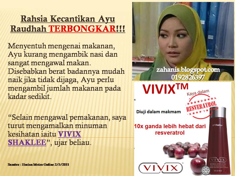 vivix shaklee halang 13 tanda penuaan