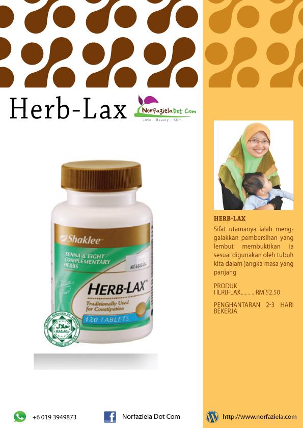 herb-lax shaklee untuk detox