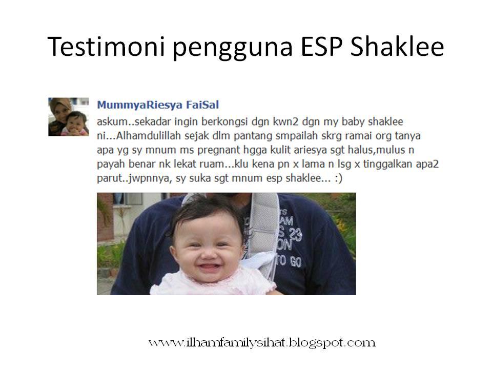 esp shaklee cerahkan kulit bayi