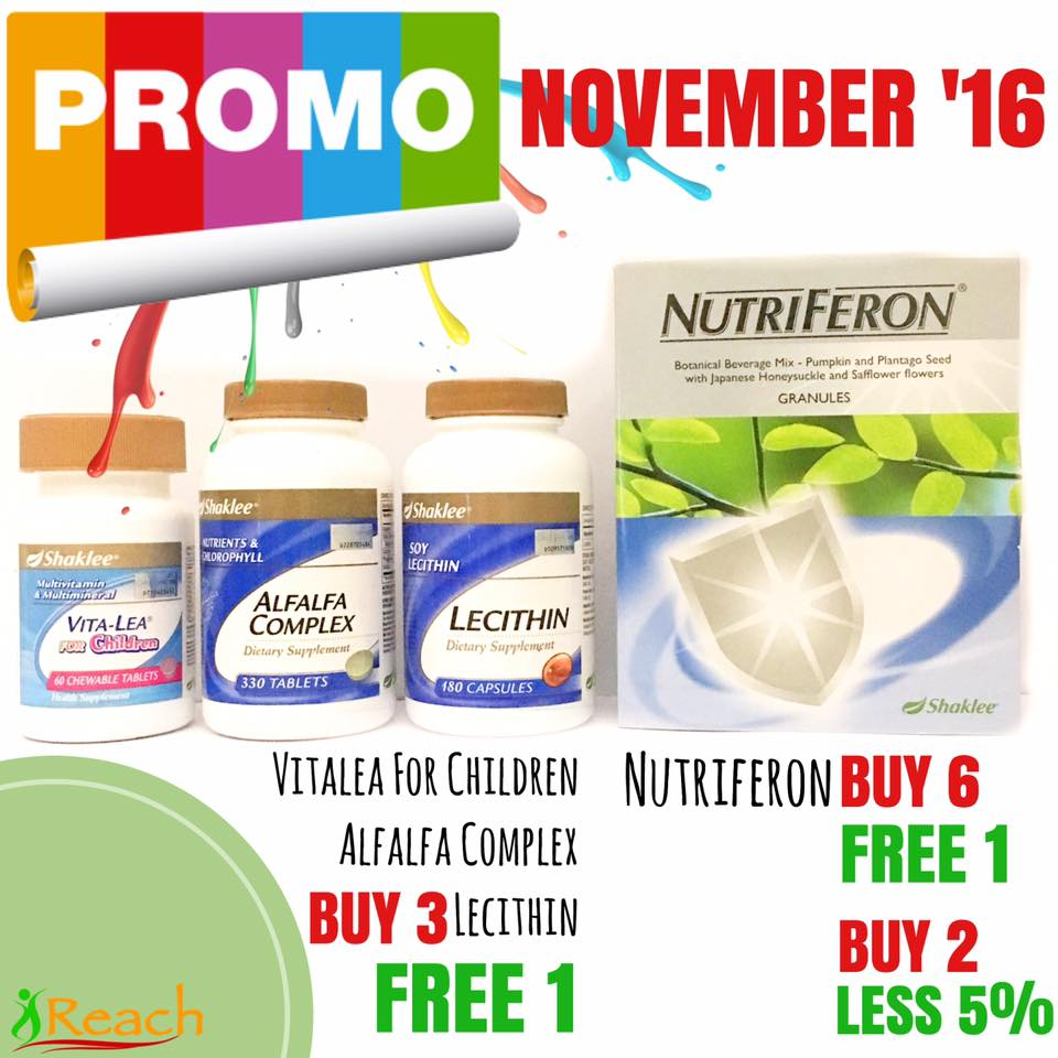 promosi vitamin shaklee